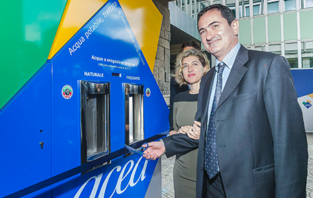 The first Water House was inaugurated: free-of-charge natural and sparkling cool water dispensers will be deployed in Rome and related provincial districts